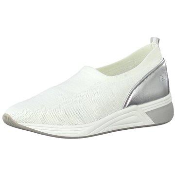 Marco Tozzi Sportlicher Slipper weiß
