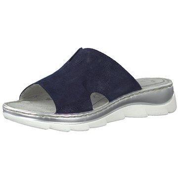 Marco Tozzi Komfort Pantolette blau