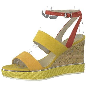 Marco Tozzi Sandalette gelb