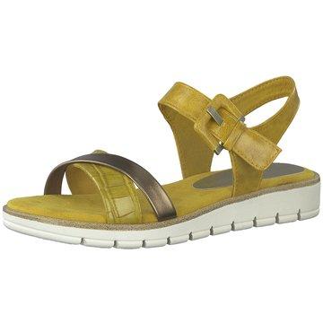 Marco Tozzi Sandale gelb