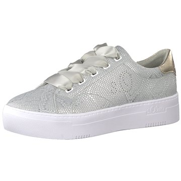 s.Oliver Plateau Sneaker silber
