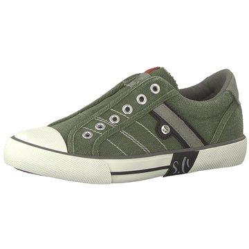 s.Oliver Sportlicher Slipper grün