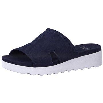 Jana Plateau Pantolette blau