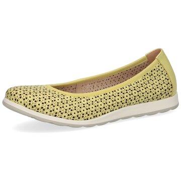 Caprice Komfort Slipper gelb