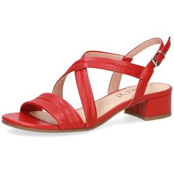 Caprice Komfort Sandale rot