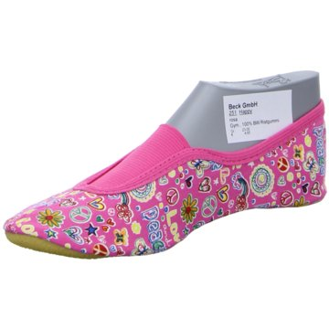 BECK GymnastikschuhFlower Power pink