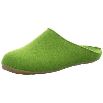 HAFLINGER HausschuhEverest Fundus grün