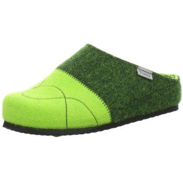 Tofee Hausschuh grün