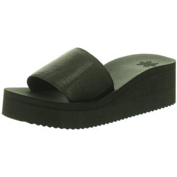 Flip-Flop Keilpantolette schwarz