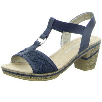 Firence Komfort Sandale blau