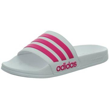 adidas BadelatscheCloudfoam Adilette weiß