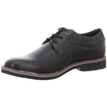 Tom Tailor Komfort Schnürschuh schwarz
