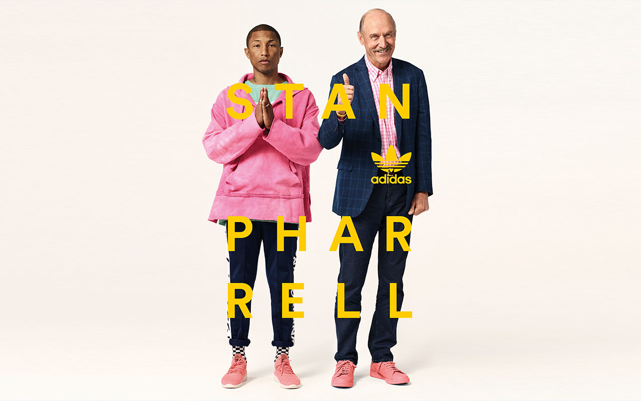 Was für ein stylisches Duo - Pharrell Williams & Stan Smith. (Foto: Pharrell Williams x Stan Smith)