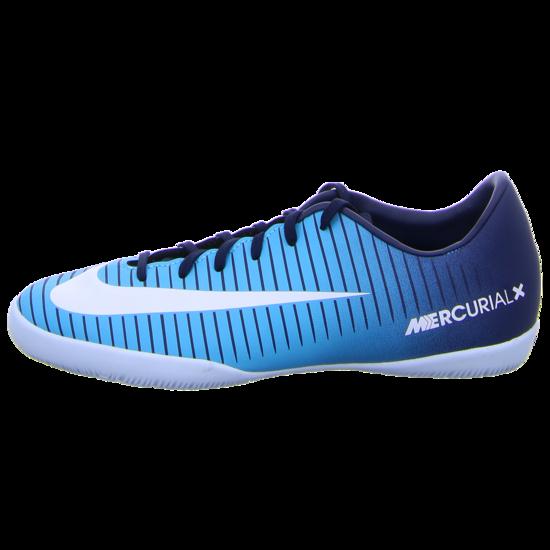 detaillierte Bilder heiße neue Produkte Skate-Schuhe Nike MercurialX Victory VI IC Kinder Fußball Hallenschuhe blau weiß  Trainings- und Hallenschuhe
