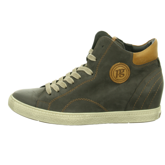 Paul Green Damen Sneaker 1401-201 Iron/Cuoio Keil 1401-201 Iron/Cuoio R-Nubuk Grau 289757