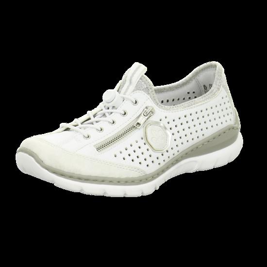 RIEKER Sneaker weißargentosilverflower
