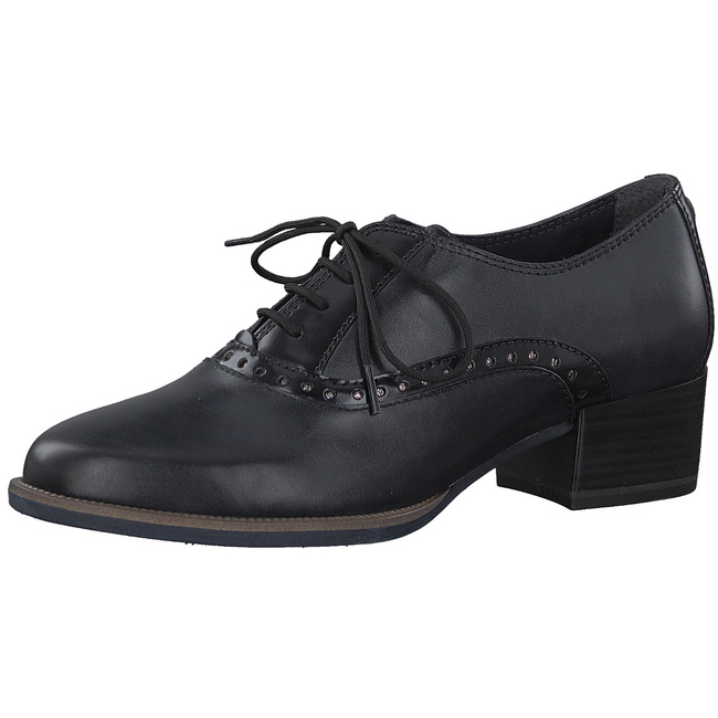 NEU TAMARIS DAMEN Sneaker Halbschuhe Leder schwarz touch it